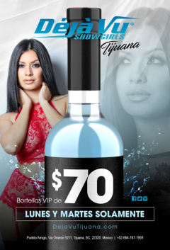 Botellas VIP de $70
